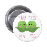Two Peas In A Pod 2 Inch Round Button