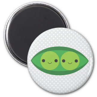 Two Peas in a Pod 2 Inch Round Magnet