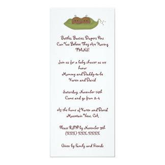 Two Peas in a Pod 4x9.25 Paper Invitation Card