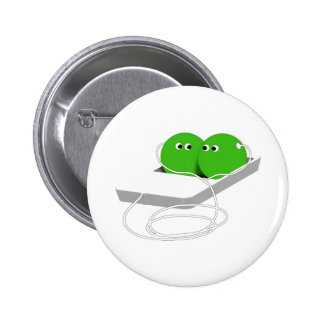 Two Peas In A Pod (Add Your Text) Pinback Buttons