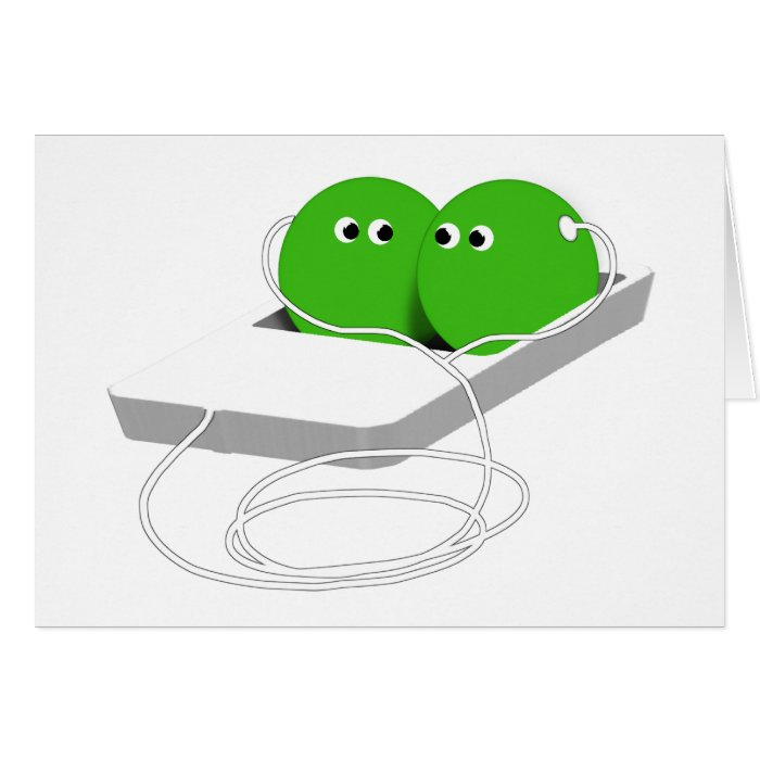 Two Peas In A Pod (Add Your Text) Card