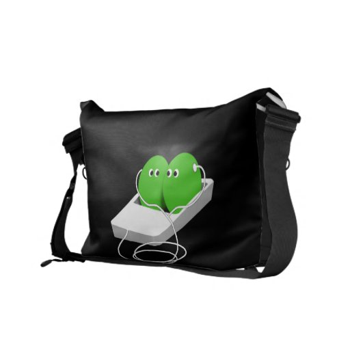 Two Peas In A Pod (Add Your Text) Commuter Bag
