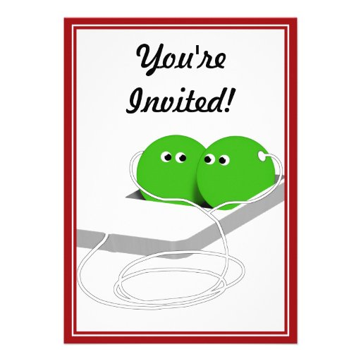 Two Peas In A Pod (Add Your Text) Custom Invite
