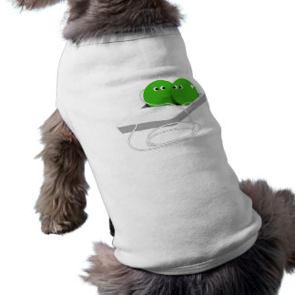 Two Peas In A Pod (Add Your Text) Pet T-shirt