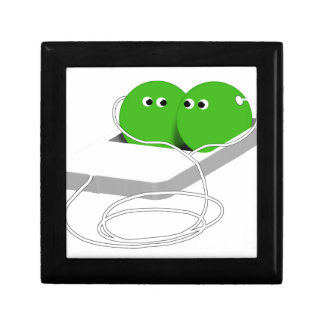 Two Peas In A Pod Add Your Text Jewelry Box