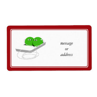 Two Peas In A Pod (Add Your Text) Shipping Label