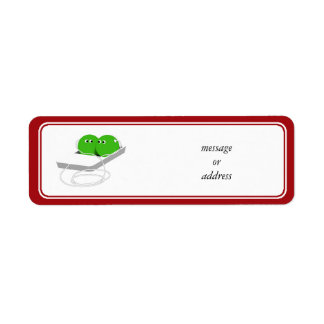 Two Peas In A Pod (Add Your Text) Return Address Label