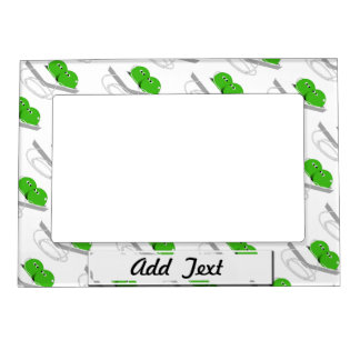 Two Peas In A Pod (Add Your Text) Magnetic Photo Frame