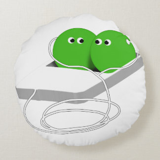 Two Peas In A Pod (Add Your Text) Round Pillow