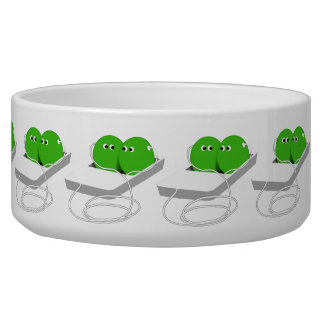 Two Peas In A Pod (Add Your Text) Dog Water Bowls