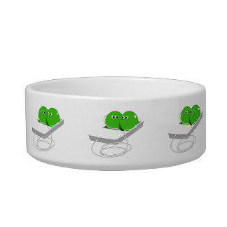 Two Peas In A Pod (Add Your Text) Cat Bowls