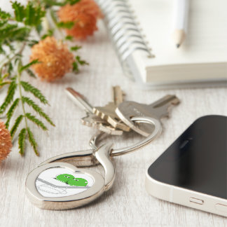 Two Peas In A Pod (Add Your Text) Key Chains