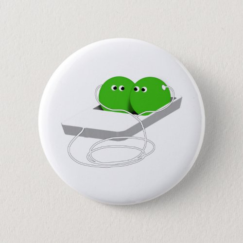 Two Peas In A Pod Add Your Text Pinback Button