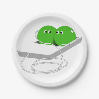 Two Peas In A Pod (Add Your Text) 7 Inch Paper Plate