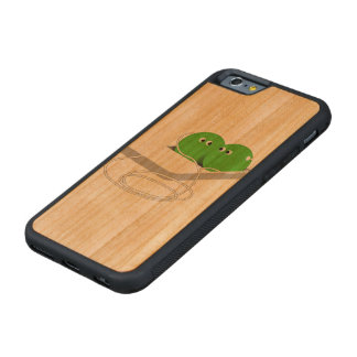 Two Peas In A Pod (Add Your Text) Carved® Cherry iPhone 6 Bumper Case