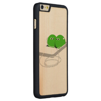 Two Peas In A Pod (Add Your Text) Carved® Maple iPhone 6 Plus Slim Case