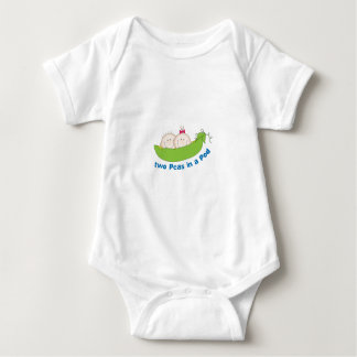 Two Peas In A Pod Baby Bodysuit