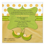 Two Peas in a Pod Baby Shower Custom Invitation