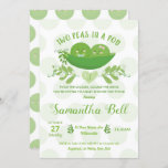 Two Peas in a Pod boy Girl Twin Baby Shower Invitation
