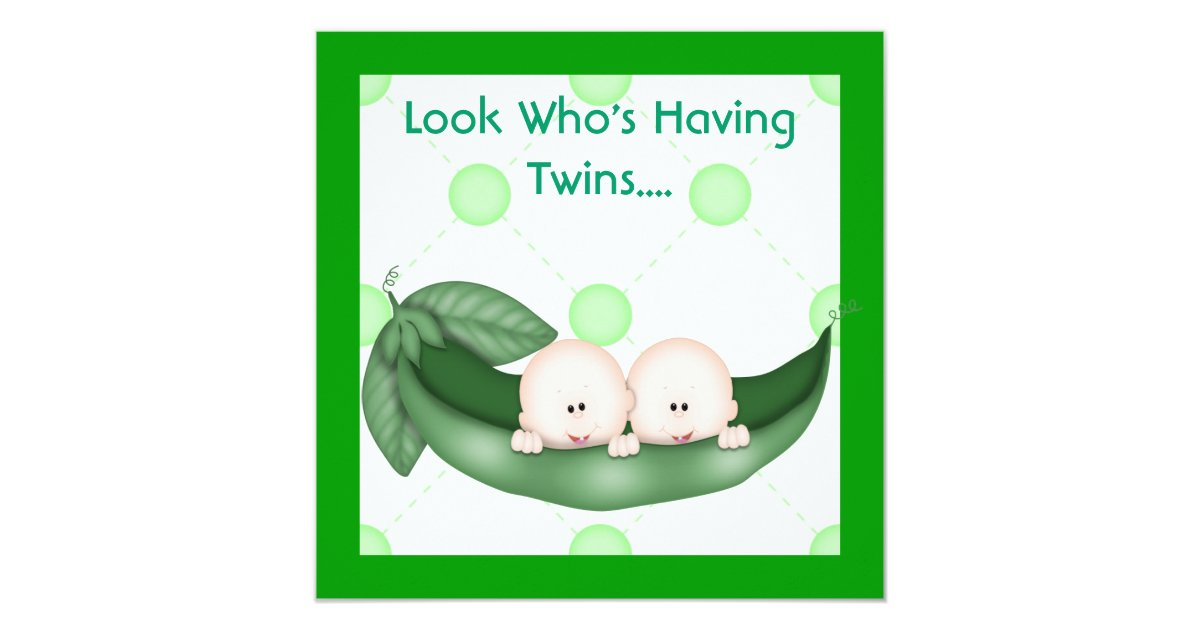 two peas in a pod baby shower invitation girl or zazzle