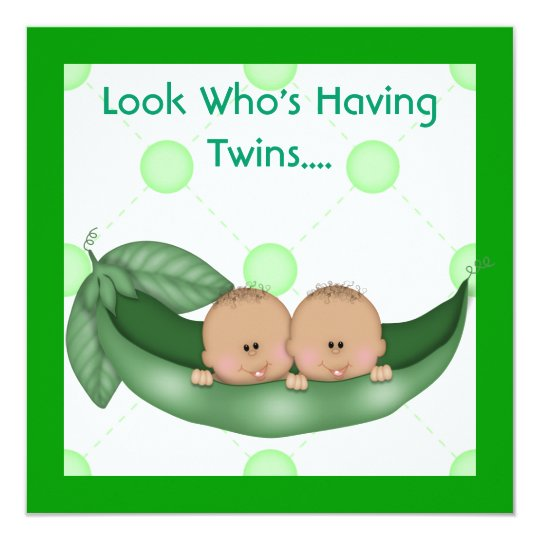 two peas in a pod baby shower twins invitations  zazzle, Baby shower