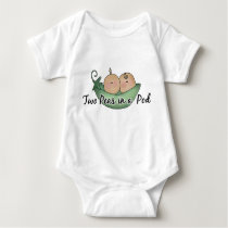Two peas in a pod baby twins bodysuit
