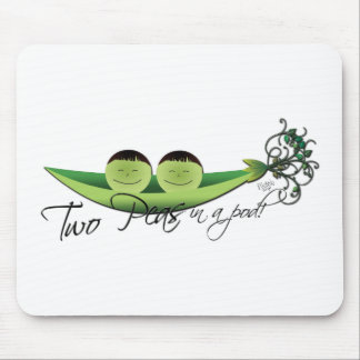 Two Peas In A Pod | boy twins Mouse Pad