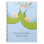 Two Peas in a Pod Boy Twins Notebook
