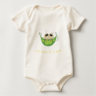 Two Peas in a Pod Boy Twins Onsie Baby Bodysuit