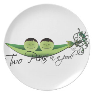 Two Peas In A Pod | boy twins Plate