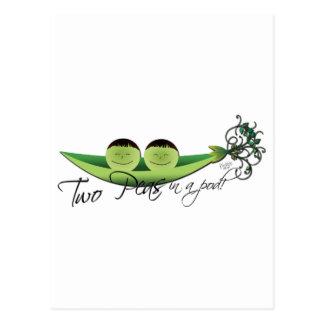 Two Peas In A Pod | boy twins Postcard
