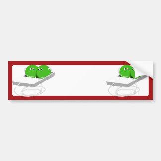 Two Peas in a Pod Bumper Sticker