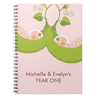 Two Peas in a Pod Girl Twins Notebook
