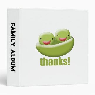 Two Peas In A Pod Give Thanks 3 Ring Binders