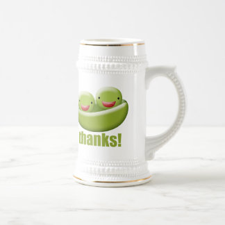 Two Peas In A Pod Give Thanks Beer Stein