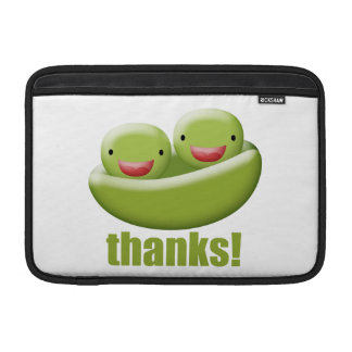 Two Peas In A Pod Give Thanks MacBook Sleeve
