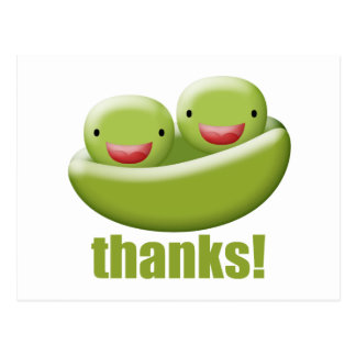 Two Peas In A Pod Give Thanks Postcard