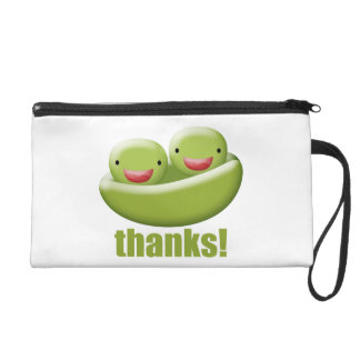 Two Peas In A Pod Give Thanks Wristlet Purse