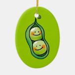Two peas in a pod ornaments
