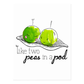 Two Peas in a Pod Postcard