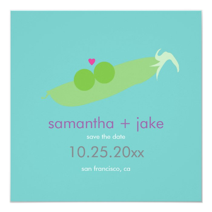 Two Peas In A Pod Save The Date Card Zazzle