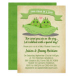 Two Peas In A Pod Twin Baby Shower Invitation