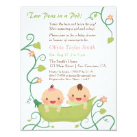 Twins baby shower invitations announcements zazzle two peas in a pod twin baby shower invitations filmwisefo