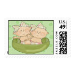 Two Peas in a Pod Twin Girls Baby Shower Postage
