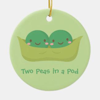 Two Peas in a Pod Twins Nursery Room Decor Ceramic Ornament