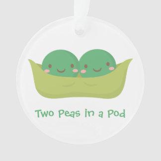 Two Peas in a Pod Twins Nursery Room Decor Ornament
