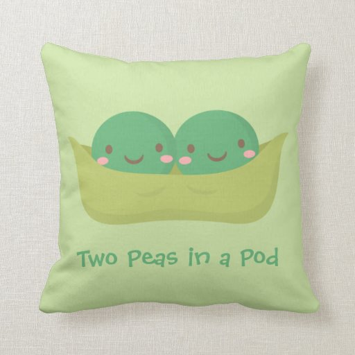 Two Peas In A Pod Twins Nursery Room Decor Throw Pillow