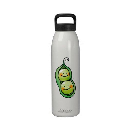 Two peas in a pod drinking bottle