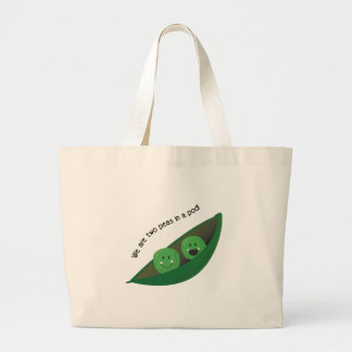 Two Peas in Pod Canvas Bags