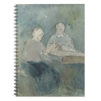 Two Peasants at the Table, c.1874 (w/c on paper) Journal